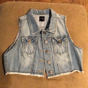 Cut off jean vest
